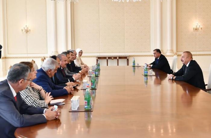 Prezident İlham Əliyev Mustafa Şentopu qəbul etdi - FOTO