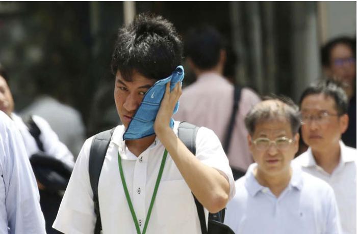 Yaponiyada 23 nəfər istidən ölüb