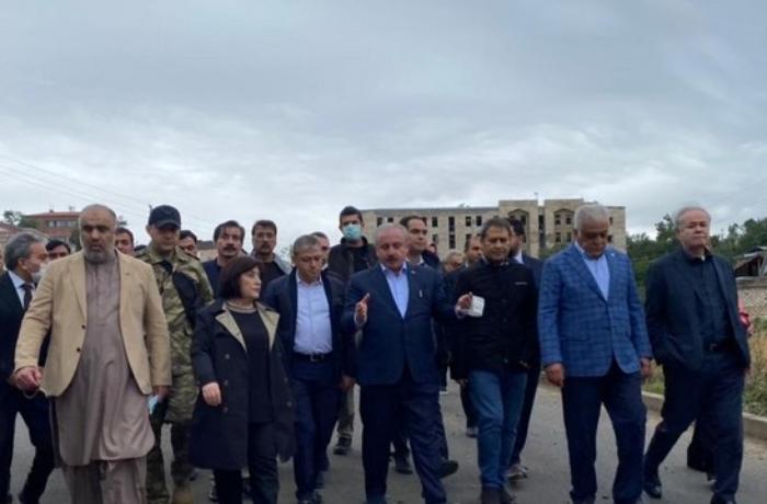 Parliamentary speakers of Azerbaijan, Turkey and Pakistan start visit to Shusha