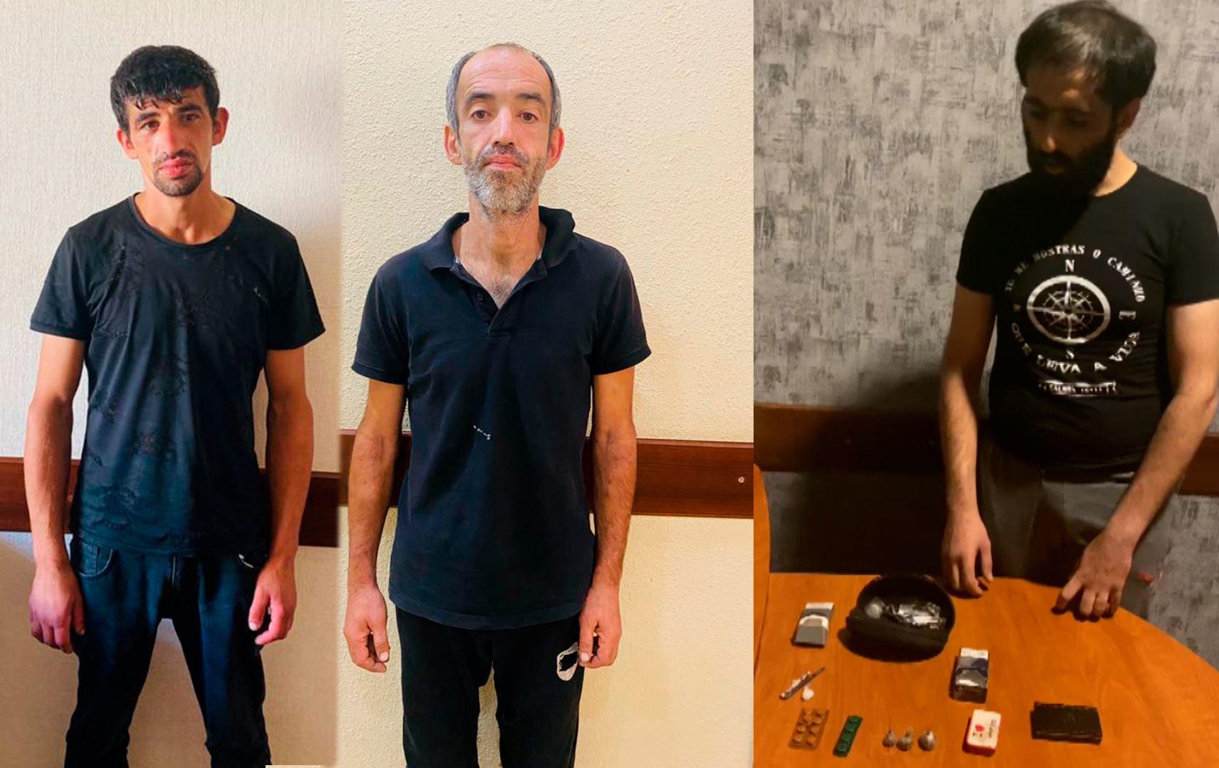 Bakıda narkotik satışı ilə məşğul olan 3 nəfər saxlanıldı