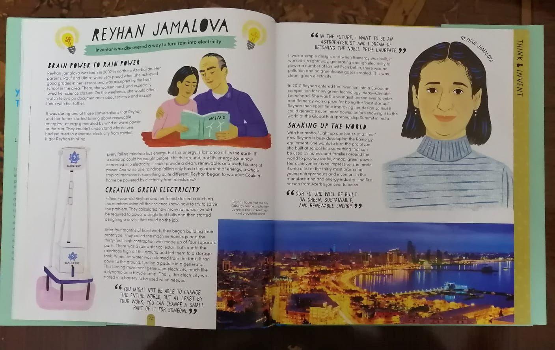 Reyhan Camalovanın adı dünyaya faydalı 50 uşaq arasında - FOTOLAR