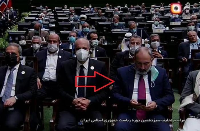 İran prezidentinin andiçməsində Paşinyanın etdiyi hərəkət bağışlanmaz səhv adlandırıldı