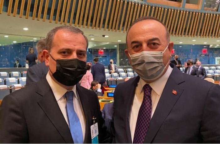 Ceyhun Bayramov Nyu-Yorkda Çavuşoğlu ilə görüşdü - FOTO