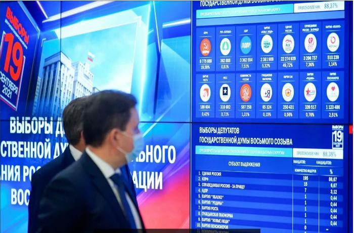 Rusiya Dövlət Dumasında keçirilən seçkilərin nəticələri açıqlandı