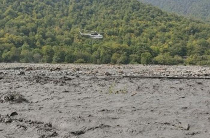 Çayda boğulan kişinin meyiti helikopterlə çıxarıldı - VİDEO