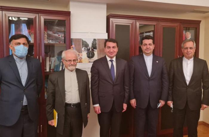Hikmət Hacıyev İranın xarici işlər nazirinin müavini ilə görüşüb - FOTO