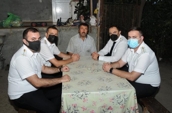 Prokrorluq əməkdaşları şəhid ailələrini ziyarət etdilər - FOTO