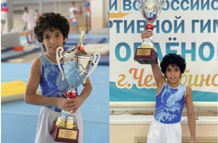 Azərbaycanlı idman gimnastı Rusiyada altı medal qazandı - VİDEO